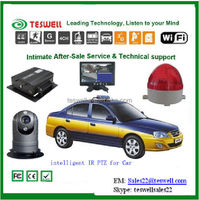 Factory direct 4 channel Car MDVR with GPS tracking 3G online watch live video support mobile phone
