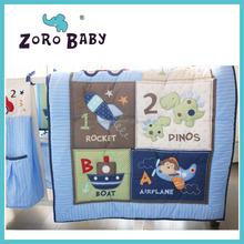 WM brand same style baby crib bedding sets for boy