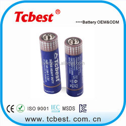 Shenzhen supplier 1.5v r6 aa size battery