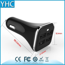 2015 4 ports high quality current mobile phone usb car charger for iphone 6 in car