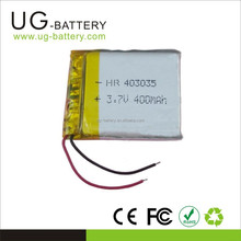Lipo 400mAh 3.7V Li Polymer Battery pack Lithium for Electronic products