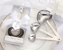 Heart Shape Love Beyond Measure Stainless-Steel Measuring Spoons Wedding GIft
