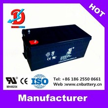 Rechargeable AGM Sealed l lead acid battery 12v 200ah for solar system