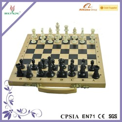 New Design Hand Crafted Portable Wooden Chess
