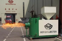 Famous ROTEX Brand high technical biomass sawdust pellet burner connect with boiler, dryer