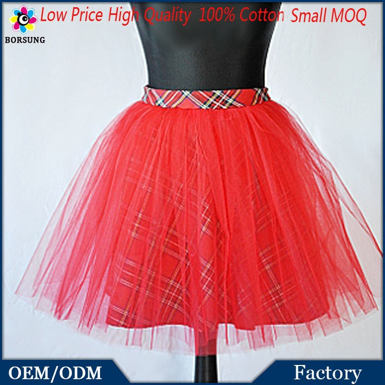 2015 Best Selling Factory Direct Sale Girls Party Dresses Summer Latest Red Girls Tartan Tulle T ...
