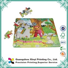 Full color printing kids various shape artpaper cardboard customized a4 sublimation puzzle wholesale