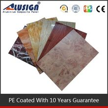 Alusign bright colour high gloss acp fresh steel frame eps sandwich panel prefabricated homes