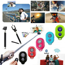 bluetooth selfie stick Monopod for Mobile Phone SmartPhone Stainless Steel Flexible Monopod