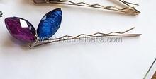 Acrylic hair clip delicate fashion hair accessory2015