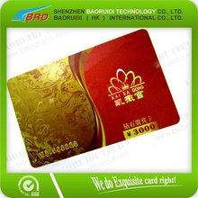 2012 New PVC loyalty card with custom printing