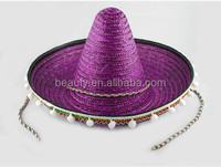 Wholesale Male gender and adults age group straw sombrero hats