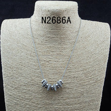 N2686 Fashion Beautiful Lucky Rings Pendant Necklace