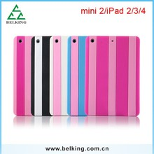 Strips Colorful Silicone Double Color Case For iPad 2/3/4/ Mini, For iPad Mini Fashon Silicone Case