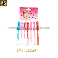 Newly Colorful Non-toxic Hen Party Willy Cake Fork