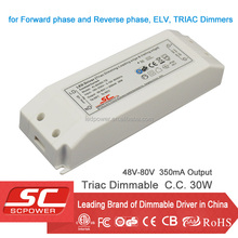 Triac dimmalbe Constant current high power led driver 300ma