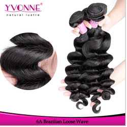 Wholesale product grade 6a brazilian human hair weave wavy
