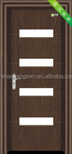 entry hot style pvc door SS-A123 with glass and fast delivery