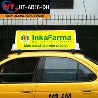 Sticker taxi top advertising cab light box for sale