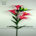 Sjzl04 exportación venta al por mayor flor del lirio artificial, imitación tiger Lily made in china