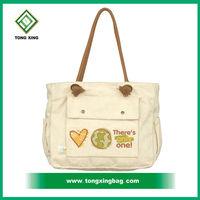 Fashion beautiful canvas shopper bag