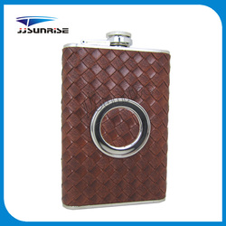 Standard Leather Stainless Steel Hip Flask