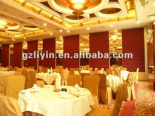 Restaurant acoustic movable partitions