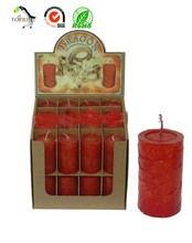 Popular printed paper packaging box and display box for votive candle manufacture,exporter
