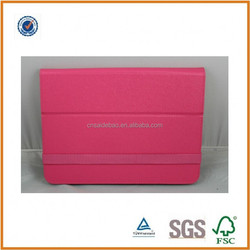2015 newest factory customized OEM lethaer case for ipad with elastic rope