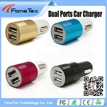2 port car charger Car cigarette socket 5V 2.1A mobile phone usb car charger 2 port