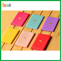 Encai Factory Newest Travel Organizer Passport Cover/Airplane Logo Tickets Holder/Stocked Bright Colour Passport Bag