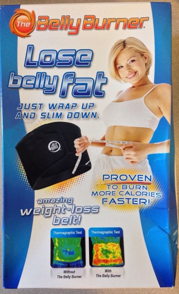 The Belly Burner Weight Loss Belt Lose Belly Fat As Seen On Tv Black