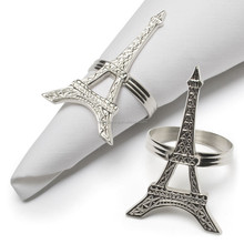 Decorating Ideas Dining Table Decoration with Stainless Steel Eiffel Tower Napkin Rings