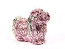 Top quality LUXURY Puppy dog Animal shaped Czech Crystal clutch bag