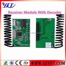 1527 learning code decode receiver,super-regenerative decoding receiving module
