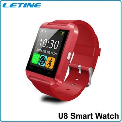 2015 Luxury Bluetooth 3.0 Smartwatch Mate Wrist Wrap Watch U8 Uwatch Fit for IOS Apple 4/4s/5/5s/6 Android with CE,rohs warrant