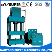 Super Machinery 1600 tons Hydraulic System Four-Column Hydraulic Power Press Machine
