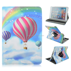 Fashion 360 Rotating Printing Colored Drawing Balloon PU Leather Stand Case For Apple iPad Mini 1/2/3