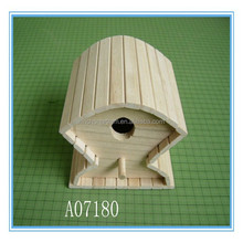 New unfinished decorative wooden crafts bird house wholesale