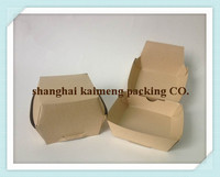 Customized new take out foldable boxes recycled brown small kraft paper cookies boxes