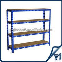 Metal or MDF shelves warehouse angle iron rack