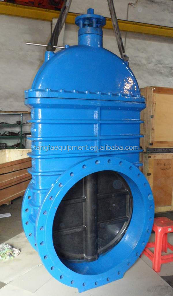 DN1000 resilinet seated DIN3352 F4 non rising stem gate valve PN10