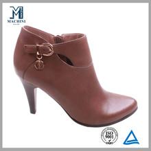 Whoesale sheepskin women stilleto leather ankle boots