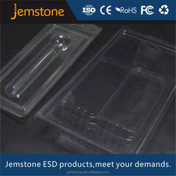 Plastic transparent blister clamshell for batteries