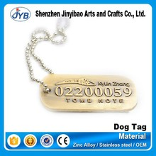 customized wooden metal numbered key dog tag