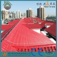Hot selling green spanish roof tile\/asa+upvc roof tile\/plastic roofing material with high quality