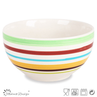 """wholesale round bowl 5.5"""" handpainted rice bowl for promotion"""