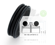 100.8*76*14.5 Excavator Hydraulic Rubber Floating Seal