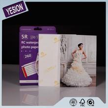 Yesion Premium High Glossy Inkjet Luminous RC Photo Paper 260gsm, Factory Supply