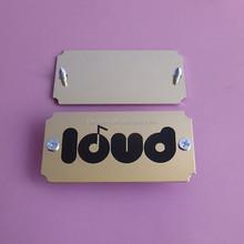 screw furniture name plates gold finish,custom design brand metal labels